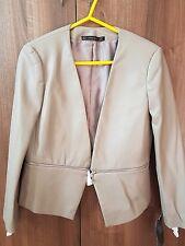 Zara Mink Leather Look Zip Jacket Coat