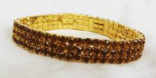 Amber Crystal Bracelet - Expandable Bracelet - BNIB