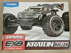 Arrma Kraton 1/8 EXB EXtreme Bash Roller 4WD Monster Truck Black ARA106053 New!!