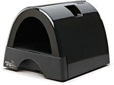 Kitty a Gogo Black Plastic DESIGNER Cat Litter Box With Domed Lid