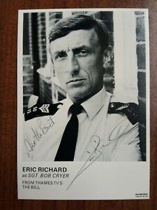 ERIC RICHARD *Sergeant Bob Cryer* THE BILL HAND SIGNED AUTOGRAPH CAST CARD