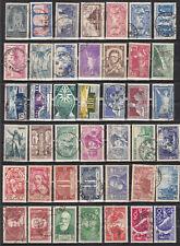 France lot de 42 valeurs commemoratifs  années 20 et 30  obl
