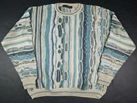 Vtg 90s Protege Collection Men's Coogi Style 3D Textured Sweater Adult XL