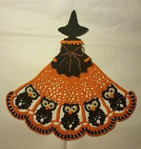 Crochet Crinoline Lady Doily - Halloween Owls