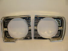 1968 DODGE DART HEADLIGHT BEZELS OEM PAIR