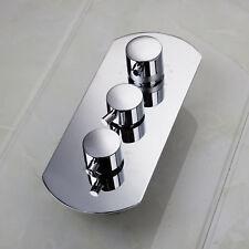 US G1/2 4-Ways Shower Chrome Brass 3Handles Mixer Control Valve with Diverter