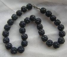 Victorian Bog Oak Mourning Bead Choker Necklace