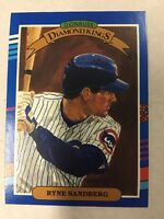 1991 Donruss Diamond Kings RYNE SANDBERG # 14 Cubs HOF