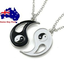 Ying Yang Pendant Necklace Chain Couple Friend Friendship Jewellery Gifts BFF