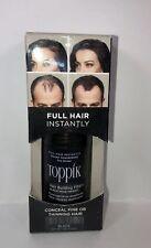 TOPPIK Hair Building Fibers Full Hair Instantly Black 0.42 oz New