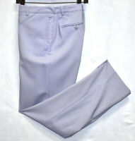 Auth VERSACE VERSUS Isernia Blue Side Zip Pockets Lana Wool Pants Size 34/48