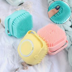 Multifunction Liquid Soap Bath Brush Silicone Scrubber Dispenser Babies ToddleW3