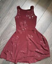 Vestito da Donna Ragazze Bordeaux Tg UK 6