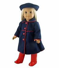 Doll Clothes fit 18 inch American Girl Navy Coat with Hat and Boots
