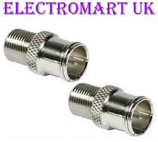 2 X QUICK FIT F CONNECTORS PUSH ON ADAPTORS SATELLITE SKY VIRGIN