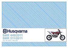 Husqvarna Parts Manual Book 2011 SMR 449 & SMR 511
