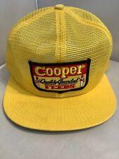 Vintage Cooper Feeds Farm SnapBack Trucker Hat K Brand All Mesh Patch Yellow J2