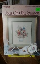 Vtg cross stitch chart only Joys of my Garden Mary Vincent Bertrand floral vase
