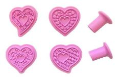 Heart 4 pc Cutter Press Set for Fondant, Gum Paste, Chocolate, Crafts