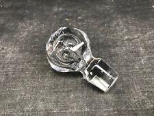 Ancien bouchon de carafe en cristal à huit facettes / VINTAGE