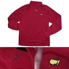 Men's Masters Tech Golf Red Half Zip Pullover Active Medium A14