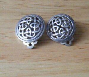 Sterling Silver 925 Celtic Clip On Earrings, Kit Heath (KH97)