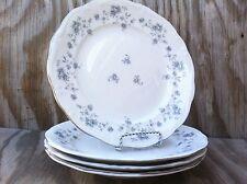 Johann Haviland Bavaria Blue Garland Large Dinner Plates Silver Trim Set Of 4