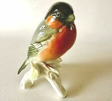 Carl ENS BULLFINCH Finch Bird Porcelain Figurine 7302 Blue Mill Mark Germany