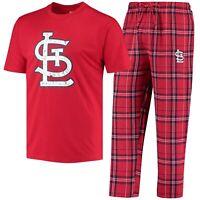 St. Louis Cardinals Concepts Sport Ethos T-Shirt & Pants Sleep Set - Red/Navy