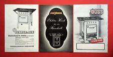 3 x Prospekt ELEKTROHERDE 1949/56 JUNKER u. RUH, MAYBAUM und VOSS    ( F13628
