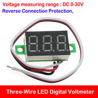 DC 0-30V 3-Wire 0.36 LED Digital Voltage Volt Meter Display Voltmeter Motorcycle