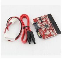 1pcs IDE to SATA ATA 100/133 Serial HDD CD DVD Converter Adapter+Cable