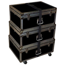 """Triple Accessory Case Rolling Stack! 1/4"""" Medium Duty - Many Colors! - Black"""
