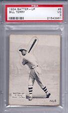 1934 Batter Up # 6 Bill Terry PSA 3