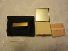 Dorset Fifth Avenue Black Carry Brass Compact Case & Comb Make Up bag Antique