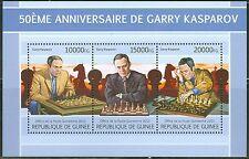 GUINEA 2013 50TH BIRTH ANNIVERSARY GARRY KASPAROV CHESS MASTER SHEET