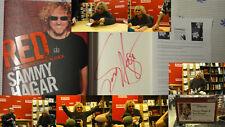Signed Sammy Hagar Red 1/1 DJ HC Van Halen Book My Uncensored Life in Rock Music