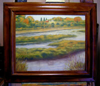 ARKANSAS RIVER Nature Center , oil painting  by Richard R. Nervig
