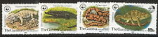 GAMBIA #432-5 Complete WWF Reptile set, og, NH, VF