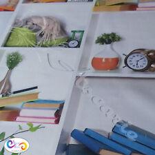 Buch Regale Baumwolle Leinen Look Stoff Digital Panama Polster Vorhang Kissen