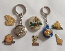 Lot 5 Pin's Asterix Obelix BD Comics Cartoons + 2 Keyring + Brooch Parc Idefix