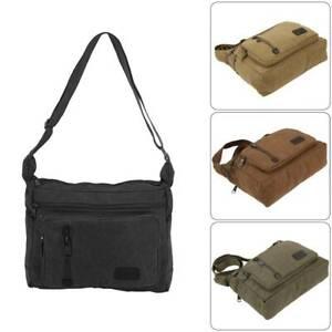 Men Canvas Shoulder Bag HandbagVintage Military Messenger Bag Satchel Briefcase