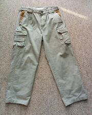 Orvis Light Green Trout Fishing Pants Leather Pocket Accents Net Clip 30 X 30