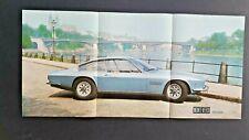 RARE MONTEVERDI HIGH SPEED 375 L FOLDOUT CAR BROCHURE 1971 TRIPLE LANGUAGE