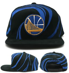 Golden State Warriors New Mitchell & Ness Wave Black Blue Era Snapback Hat Cap