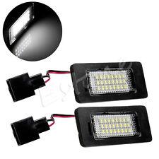 For Audi A4 B8 A5 S5 TT Q5 Passat R36 2x Error Free LED SMD LICENSE PLATE LIGHTS
