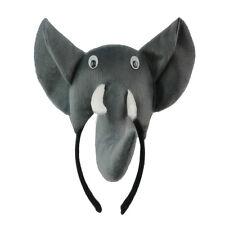 3D Elefant Kopfband Tier Bauernhof Erwachsene Kinder Kostuem Maske Maskenball GY