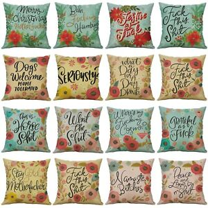 Pretty Sweary Art Print Decorative Square 18'' Throw Pillow cases Cushion covers