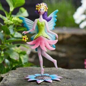 New Metal Flower Fairy - Fairy Garden Ornaments  - 19cm Tall - Daisy