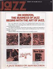 JAZZ JOURNAL MAGAZINE 1976 AUG CHU BERRY, BOBBY HACKETT, CHICK COREA